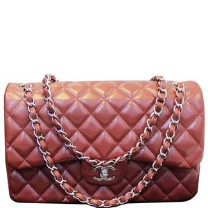 CHANEL JUMBO DOUBLE FLAP CAVIAR QUILTED SHOULDER